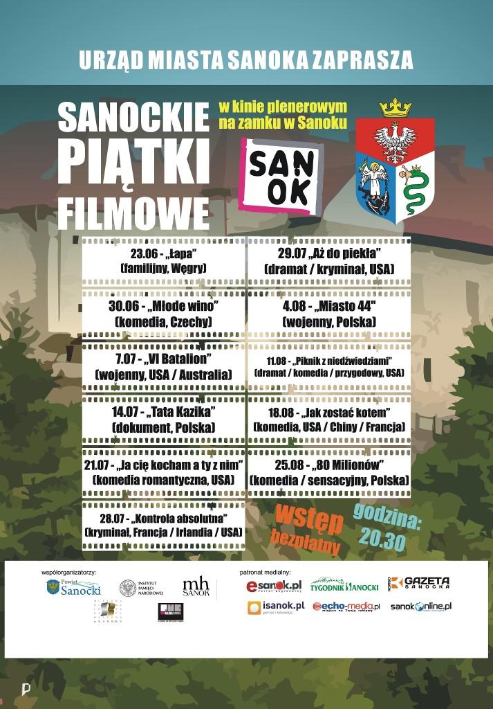 plakat kino plenerowe 2017