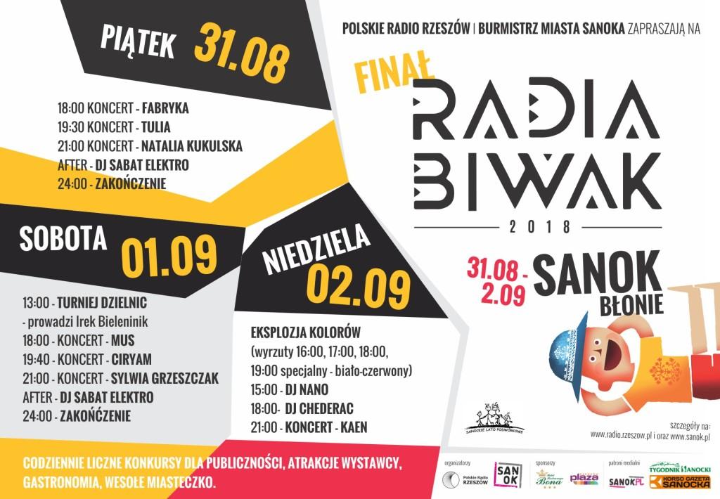 koncert Sanok BIWAK plakat PROGRAM