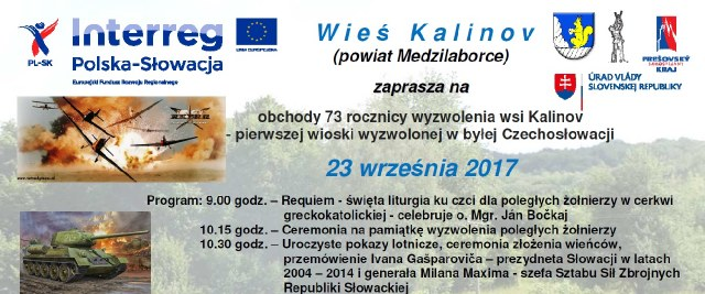 73. rocznica Wyzwolenia Wsi Kalinov – zaproszenie