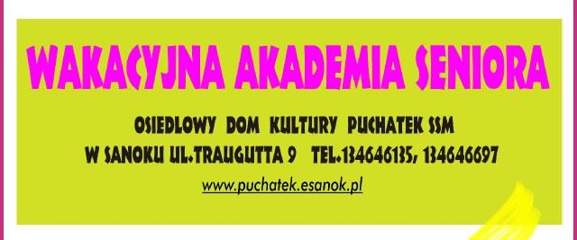 Wakacyjna akademia seniora