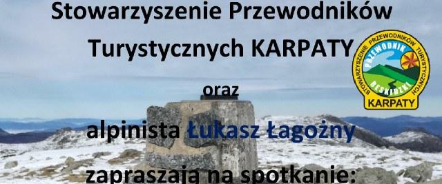 Spotkanie z alpinistą Łukaszem Łagożnym