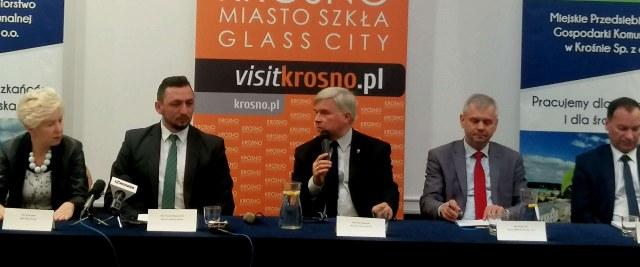 Zagospodarowanie odpadów komunalnych tematem konferencji prasowej w Krośnie