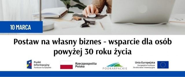 """""""Postaw na własny biznes-wsparcie dla osób powyżej 30 roku życia"""" – bezpłatne webinarium"""