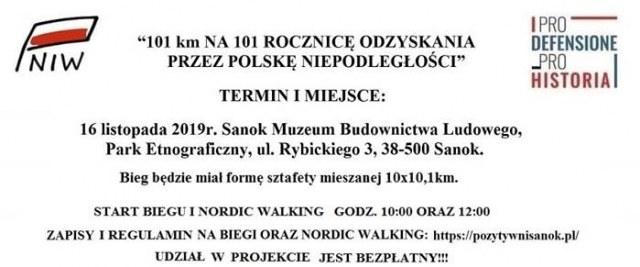 101 km na 101 rocznicę odzyskania przez Polskę niepodległości