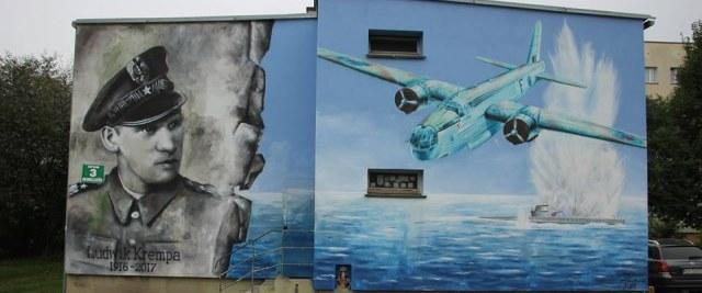 Mural poświęcony generałowi Ludwikowi Krempie już gotowy
