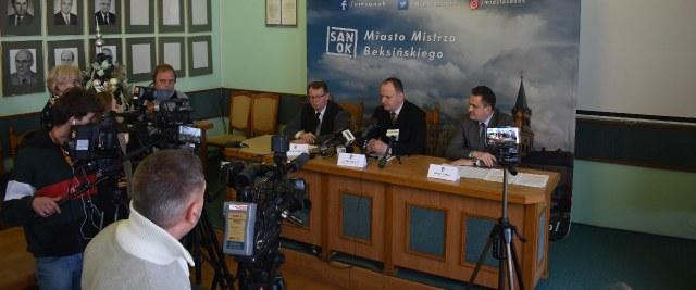 Konferencja prasowa w sprawie Podkarpackiego Banku Spółdzielczego
