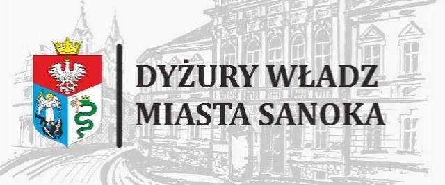 Dyżury Władz Miasta Sanoka – lipiec 2019