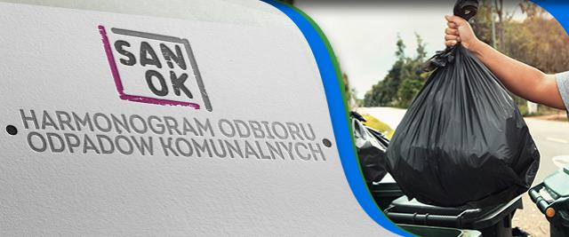 Harmonogram odbioru odpadów komunalnych w 2021 r. z nieruchomości jednorodzinnych z terenu miasta Sanoka