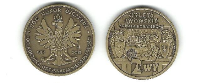 Moneta na setną rocznicę odzyskania niepodległości