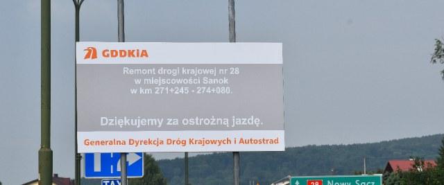 Generalna Dyrekcja Dróg Krajowych i Autostrad Oddział w Rzeszowie informuje