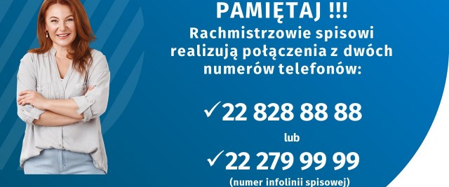 Z tych numerów telefonów dzwoni rachmistrz spisowy