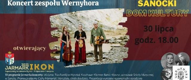 Koncert Wernyhory w SDK na rozpoczęcie Jarmarku Ikon